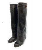 PELLICO(ペリーコ)の古着「ロングカバーブーツ」|ブラック
