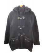 BARK(バーク)の古着「ニットダッフルコート」|ブラック