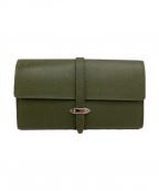 GLOBE-TROTTER(グローブトロッター)の古着「長財布」|グリーン