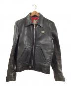 Lewis Leathers(ルイスレザース)の古着「シングルライダースジャケット」 ブラック