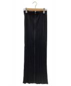 PLEATS PLEASE(プリーツプリーズ)の古着「プリーツロングスカート」|ブラック
