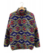 Patagonia(パタゴニア)の古着「シンチラスナップTプルオーバー」 ブルー×レッド