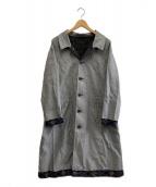 ()の古着「ダブルエフィス綿ドビーコート」|グレー