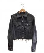 MM6 Maison Margiela()の古着「クロップドデニムジャケット」 ブラック