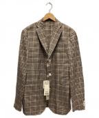 BOGLIOLI(ボリオリ)の古着「3Bテーラードジャケット」 ブラウン