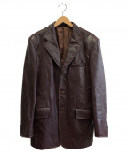 Paul Smith London(ポールスロンドン)の古着「レザージャケット」 パープル
