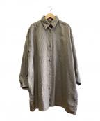CLANE(クラネ)の古着「バックフリルシャツ」|ブラック/オリーブ