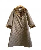 RAY BEAMS(レイ ビームス)の古着「キルティングAラインコート」|オリーブ