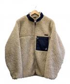 GRAMICCI(グラミチ)の古着「ボアフリースジャケット」|ホワイト×ネイビー