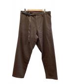 ()の古着「ウールダーツパンツ」|ブラウン