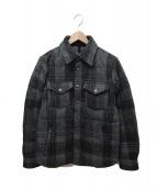 THE NORTH FACE PURPLE LABEL(ザノースフェイス パープルレーベル)の古着「ウールダウンシャツ」|グレー