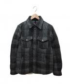 THE NORTH FACE PURPLE LABEL(ノースフェイスパープルレーベル)の古着「ウールダウンシャツ」|グレー
