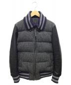halluci×Harris Tweed(ハルシ×ハリスツイード)の古着「ドンキージャケット」|グレー×ブラック