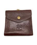 IL BISONTE(イルビゾンテ)の古着「がま口2つ折り財布」|ブラウン