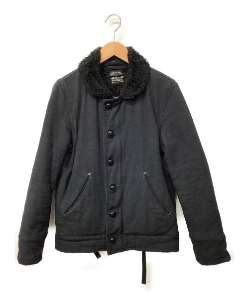 RUDE GALLERY(ルードギャラリ)RUDE GALLERY (ルードギャラリ) ボアジャケット ブラック サイズ:2 無地 秋冬物 ウール混の古着・服飾アイテム