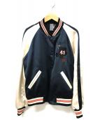 COACH(コーチ)の古着「リバーシブルボンバージャケット」|ホワイト×ブラック