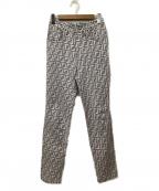 FENDI JEANS(フェンディ ジーンズ)の古着「ヴィンテージズッカ柄パンツ」|グレー×ホワイト