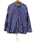 MONKEY TIME(モンキータイム)の古着「コーチジャケット」|ブルー×ホワイト