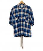 MONKEY TIME(モンキータイム)の古着「シャツジャケット」|ブルー