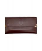 Cartier(カルティエ)の古着「がま口長財布」|ワインレッド
