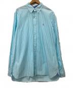 RALPH LAUREN()の古着「ボタンダウンシャツ」 スカイブルー×ホワイト