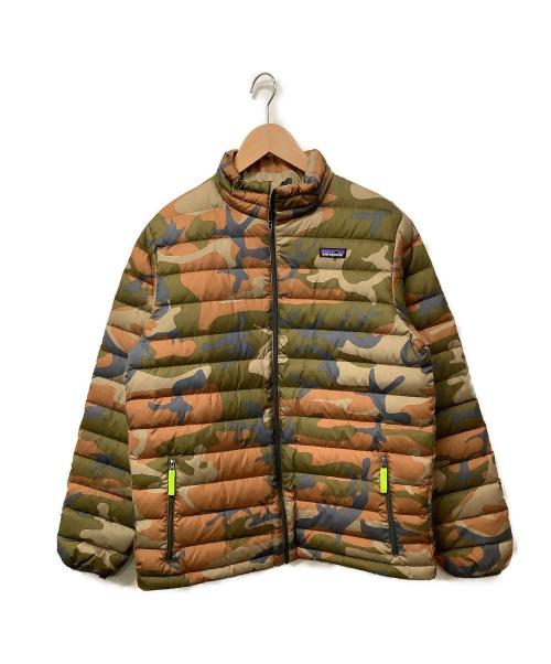 Patagonia(パタゴニア)Patagonia (パタゴニア) ダウンジャケット カーキ×ブラウン サイズ:XXL 迷彩 秋冬物の古着・服飾アイテム