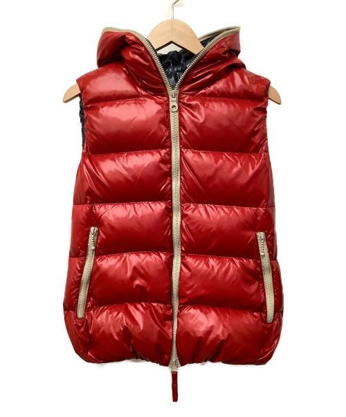 DUVETICA(デュベティカ)DUVETICA (デュベティカ) ダウンベスト レッド サイズ:40 冬物の古着・服飾アイテム