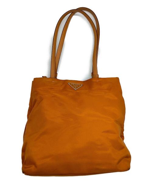 PRADA(プラダ)PRADA (プラダ) ハンドバッグ オレンジの古着・服飾アイテム