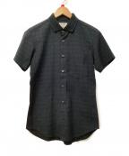 FACTOTUM(ファクトタム)の古着「切替半袖シャツ」|ブラック×ネイビー