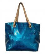 MICHAEL KORS(マイケルコース)の古着「トートバッグ」|ブルー×ブラウン