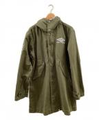 UMBRO(アンブロ)の古着「ジップコート」|オリーブ