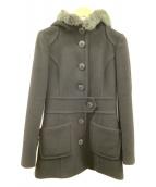 ()の古着「フーデッドコート」|ブラック
