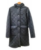 ()の古着「キルティングコート」 ネイビー