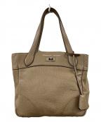 A.D.M.J.(エーディーエムジェイ)の古着「型押しハンドバッグ」|ベージュ