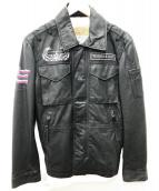 AVIREX(アヴィレックス)の古着「レザージャケット」|ブラック