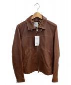 TAKEO KIKUCHI(タケオキクチ)の古着「シングルライダースジャケット」|ブラウン