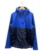 Patagonia(パタゴニア)の古着「シェルジャケット」 ブルー×ネイビー