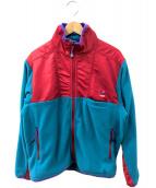Lafayette(ラファイエット)の古着「フリースジャケット」 ブルー×レッド
