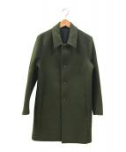 KURO(クロ)の古着「ウールコート」|オリーブ