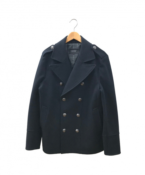 BURBERRY BLACK LABEL(バーバリーブラックレーベル)BURBERRY BLACK LABEL (バーバリーブラックレーベル) ウールコート ブラック サイズ:Lの古着・服飾アイテム