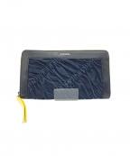 DIESEL(ディーゼル)の古着「長財布」 ブラック×ブルー