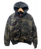☆ALPHA(アルファ)の古着「MA-1ジャケット」 グリーン×ブラック