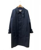 Traditional Weatherwear(トラディショナル ウェザーウェア)の古着「ステンカラーコート」 ネイビー