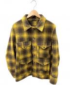 FILSON GARMENT(フィルソンガーメント)の古着「マッキーノクルーザージャケット」 イエロー×ブラウン