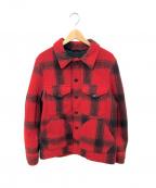FILSON GARMENT(フィルソンガーメント)の古着「マッキーノクルザージャケット」 レッド×ブラック