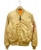 ALPHA INDUSTRIES(アルファ インダストリーズ)の古着「MA-1ジャケット」|ブラウン