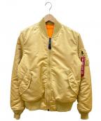 ALPHA INDUSTRIES(アルファインダストリーズ)の古着「MA-1ジャケット」|ブラウン