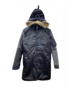 Hysteric Glamour(ヒステリックグラマー)の古着「デザイン中綿コート」|ブラック