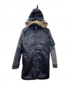 Hysteric Glamour(ヒステリックグラマー)の古着「デザイン中綿コート」 ブラック