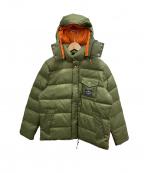 POLeR(ポーラー)の古着「中綿ジャケット」 グリーン×オレンジ